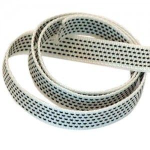 Band zwart/wit 14mm